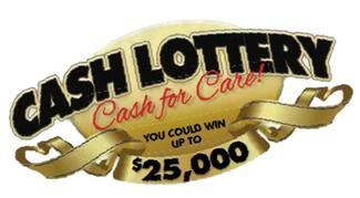 Cash for Care Lottery logo